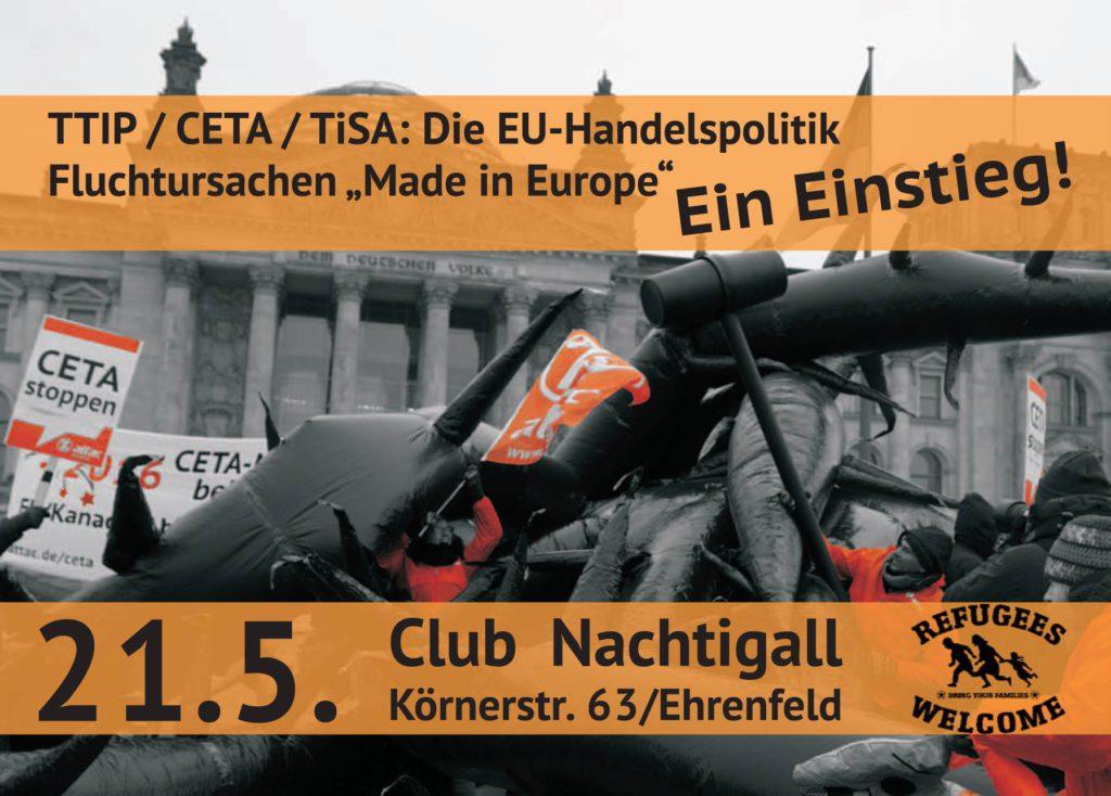 Lobbyismus und EU-Handelspolitik als Fluchtursache - Info-Veranstaltung für Einsteiger