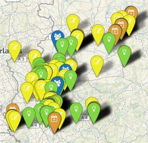 Aktionslandkarte: Aktionen, Eintragungsstellen, Infostände, lokale Bündnisse und Veranstaltungen.